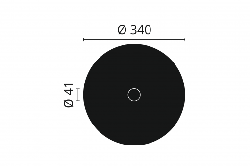 R14 Arstyl Ceiling Rose Technical Drawing