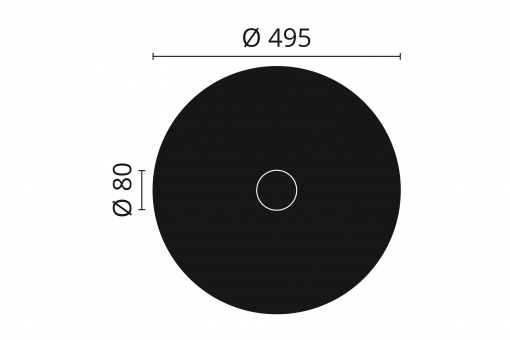 R8 Arstyl Ceiling Rose Technical Drawing
