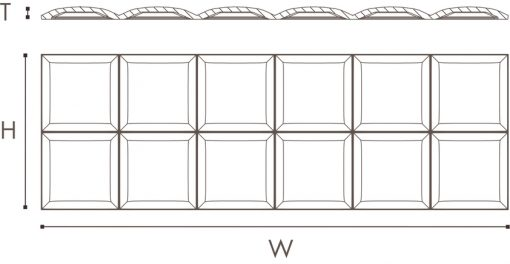 ARSTYL Wall Panel SQUARE Technical Drawing