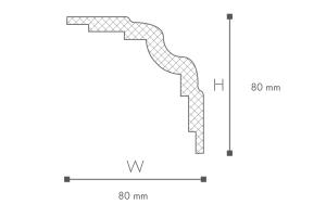 Karena WT25 2.44m Art Deco Coving Profile