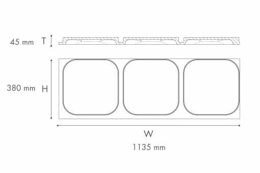 ARSTYL Wall Panels ICON Technical Drawing