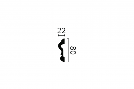 ARSTYL® Z13 2m Dado Rail Technical Drawing