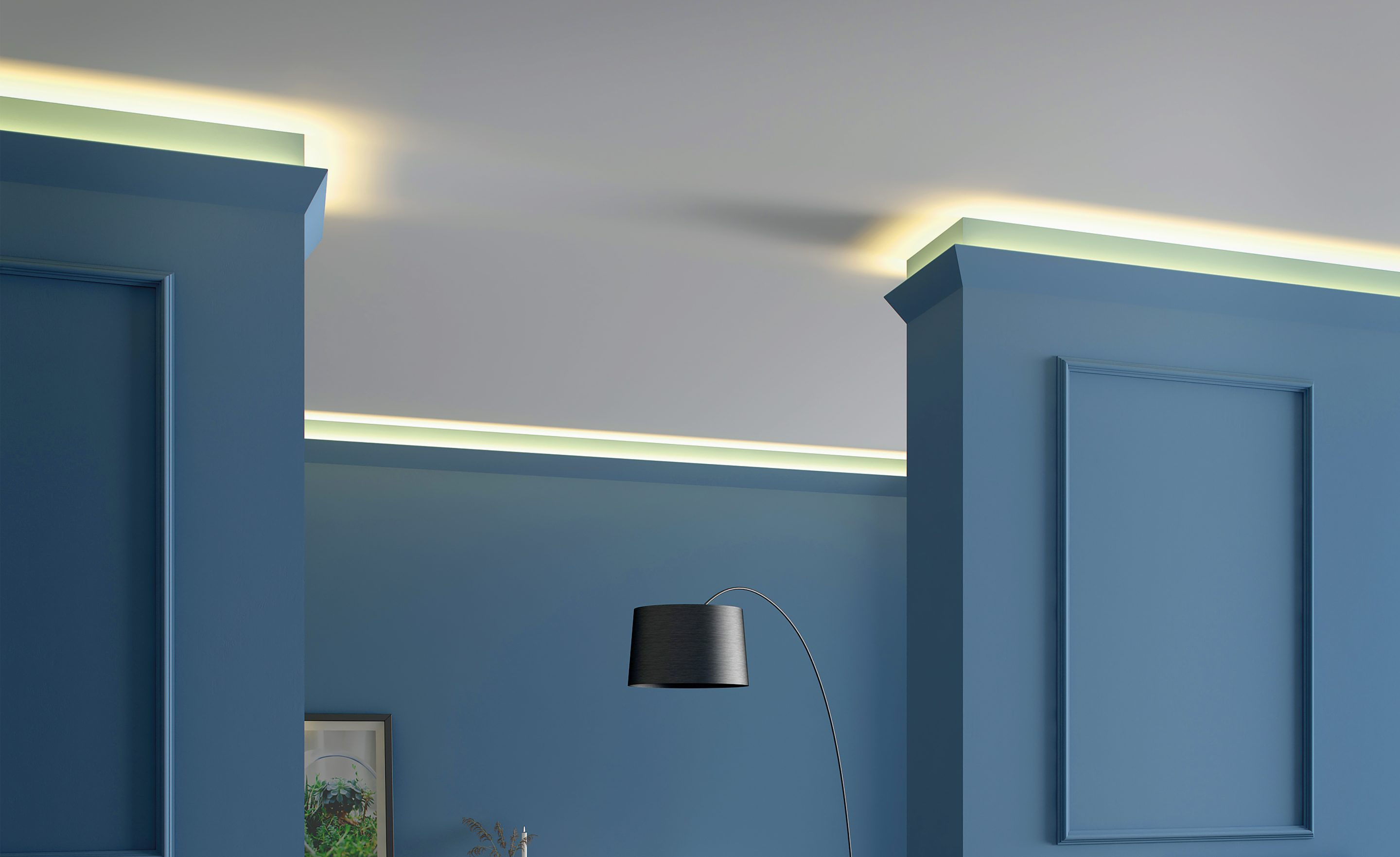 Il4 Wallstyl 174 2m Coving Lighting Solution Indirect