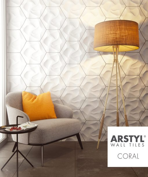 ARSTYL 3D Wall Tiles CORAL Room Shot 2