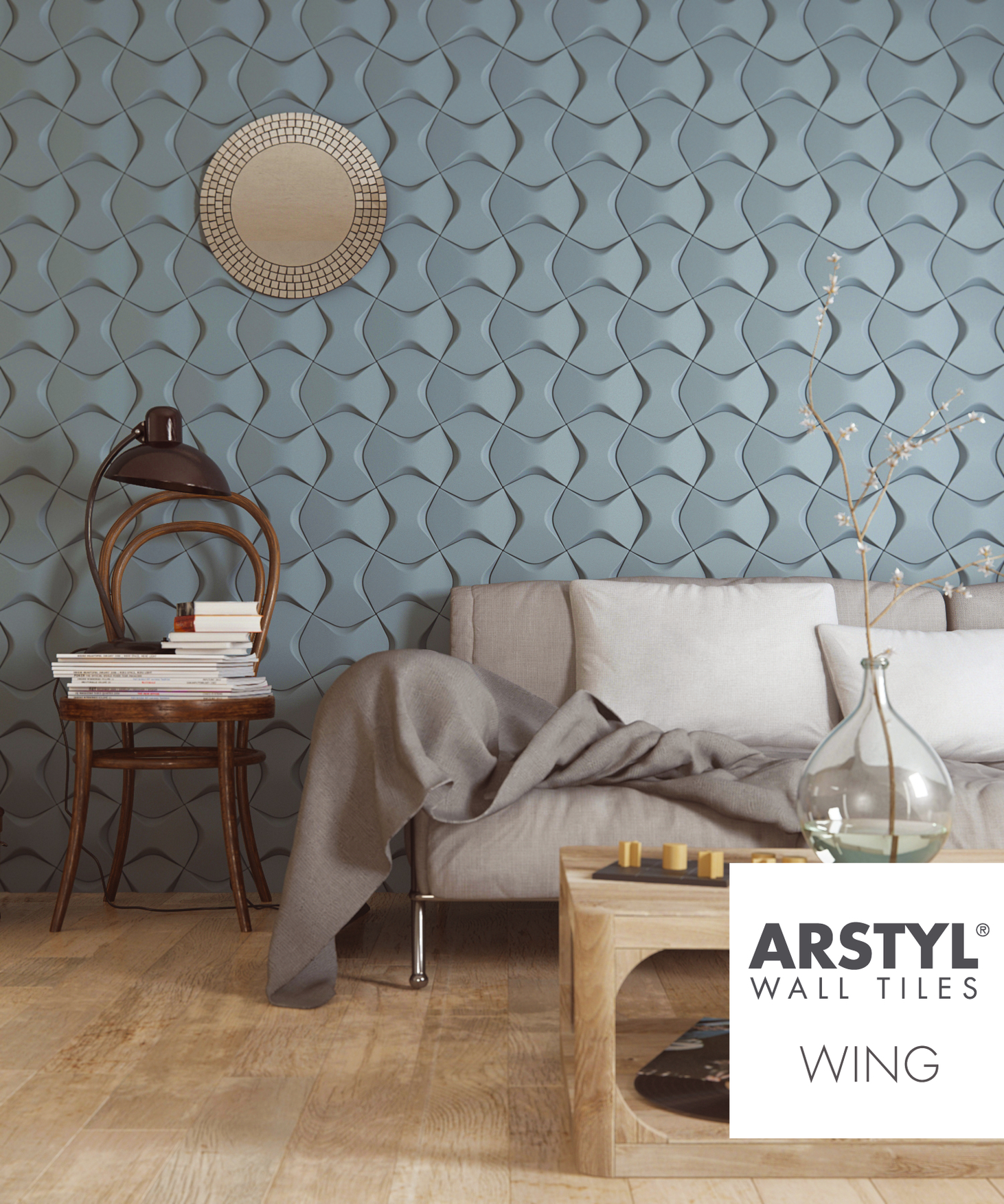 WING Arstyl® 3D Wall Tile 1pc - from NMC Copley Decor 3D wall panels ...