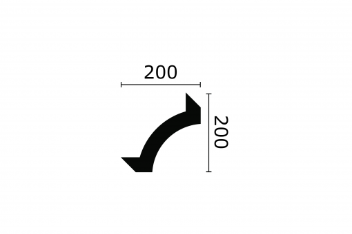 ARSTYL® Amelia (Z102) Curved Corner Technical Drawing